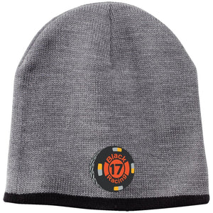 Black 17 embroidered CP91 100% Acrylic Beanie