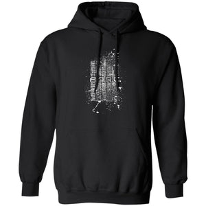 AORC Vertical white 2-sided print G185 Pullover Hoodie 8 oz.