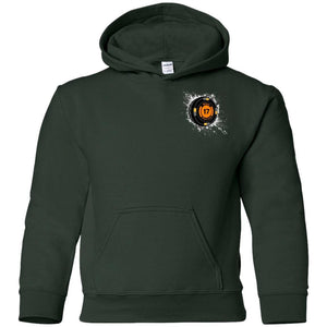 Black 17 2-sided print G185B Gildan Youth Pullover Hoodie