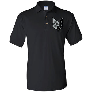 Wicked Jeeps NM embroidery Black & Silver G880 Gildan Jersey Polo Shirt