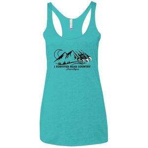 I survived NL6733 Next Level Ladies' Triblend Racerback Tank