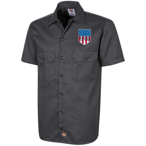 American Off-Road embroidered logo 1574 Dickies Men's Short Sleeve Workshirt