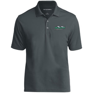 Hundt's Motorsports silver embroidered K110 Port Authority Dry Zone UV Micro-Mesh Polo