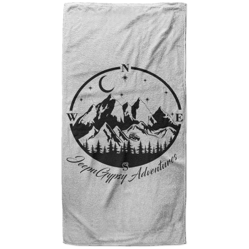 JeepnGypsy compass S6BETL Beach Towel - 37x74