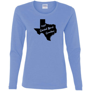 Coastal Bend Crawlers G540L Gildan Ladies' Cotton LS T-Shirt