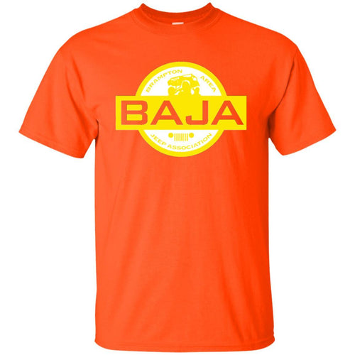 BAJA white & yellow logo G200 Gildan Ultra Cotton T-Shirt