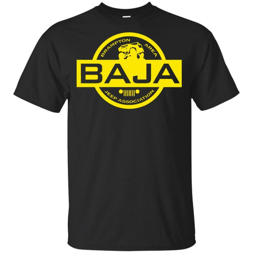 BAJA yellow logo G200B Gildan Youth Ultra Cotton T-Shirt