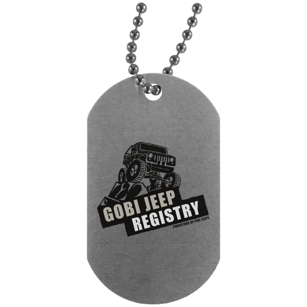 Gobi Jeep Registry Logo UN4004 Silver Dog Tag