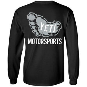 Yeti Motorsports logo 2-sided print G240 Gildan LS Ultra Cotton T-Shirt