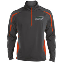 H57 Racing embroidered logo ST851 Sport-Tek Men's Sport Wicking Colorblock 1/2 Zip