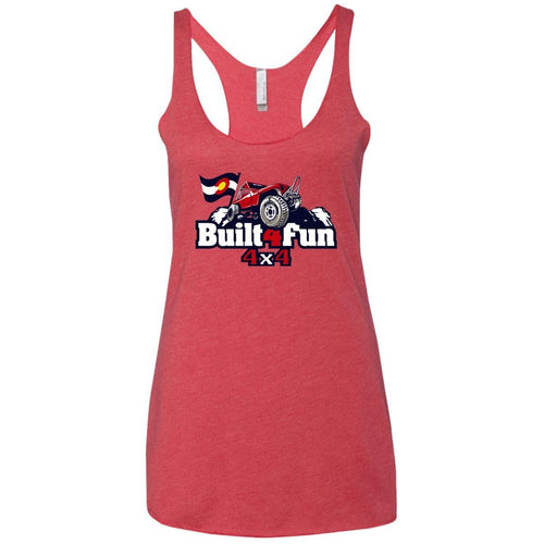 Built4Fun red NL6733 Next Level Ladies' Triblend Racerback Tank