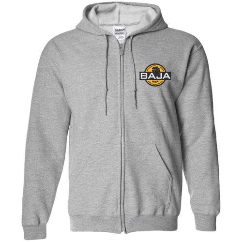 BAJA embroidered logo G186 Gildan Zip Up Hooded Sweatshirt