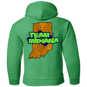 B&B Motorsports 2-sided print (Team Indiana back) G185B Gildan Youth Pullover Hoodie