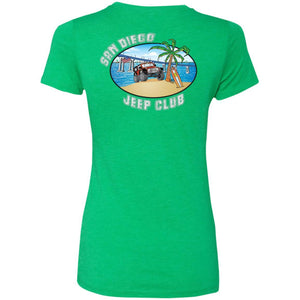 SDJC 2-sided print NL6710 Ladies' Fitted Triblend T-Shirt