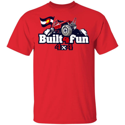 Built4Fun red G500 Gildan 5.3 oz. T-Shirt