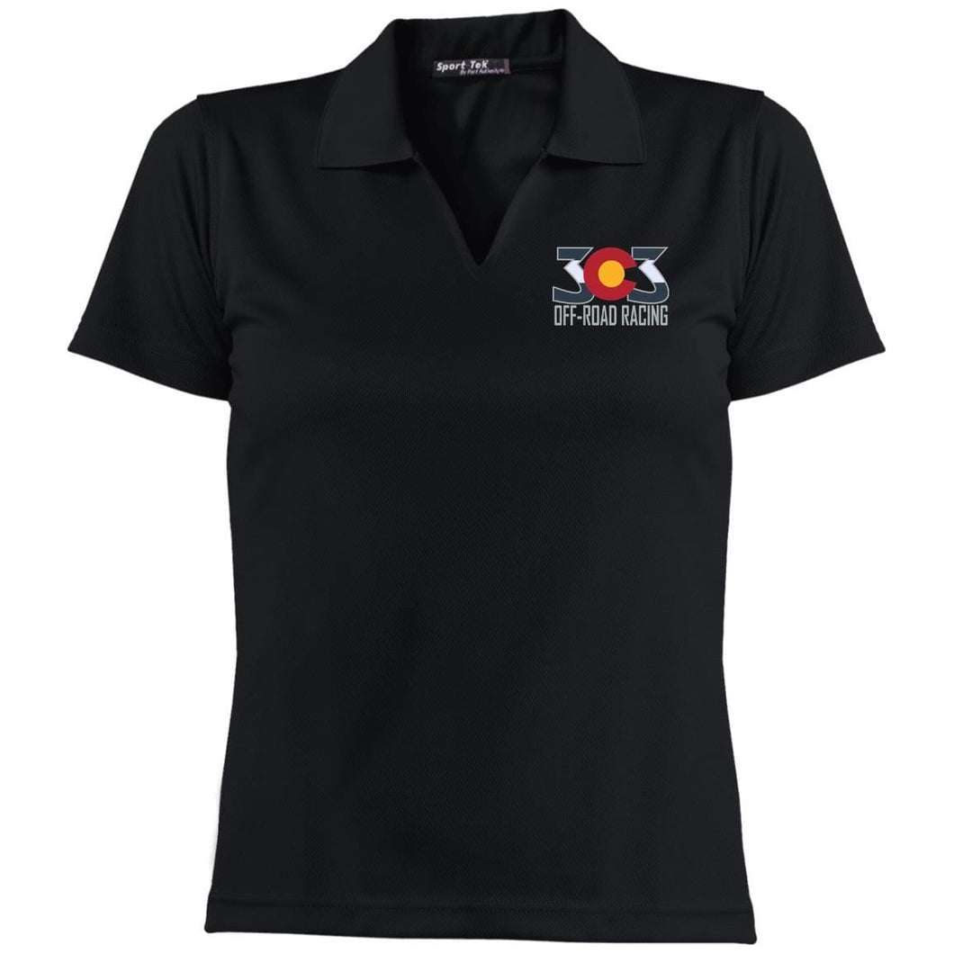 303 Off-road Racing embroidered logo L469 Sport-Tek Ladies' Dri-Mesh Short Sleeve Polo
