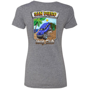 San Diego jeep club 2-sided print NL6710 Ladies' Triblend T-Shirt