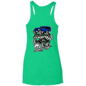 H57 Racing 2-sided print NL6733 Next Level Ladies' Triblend Racerback Tank
