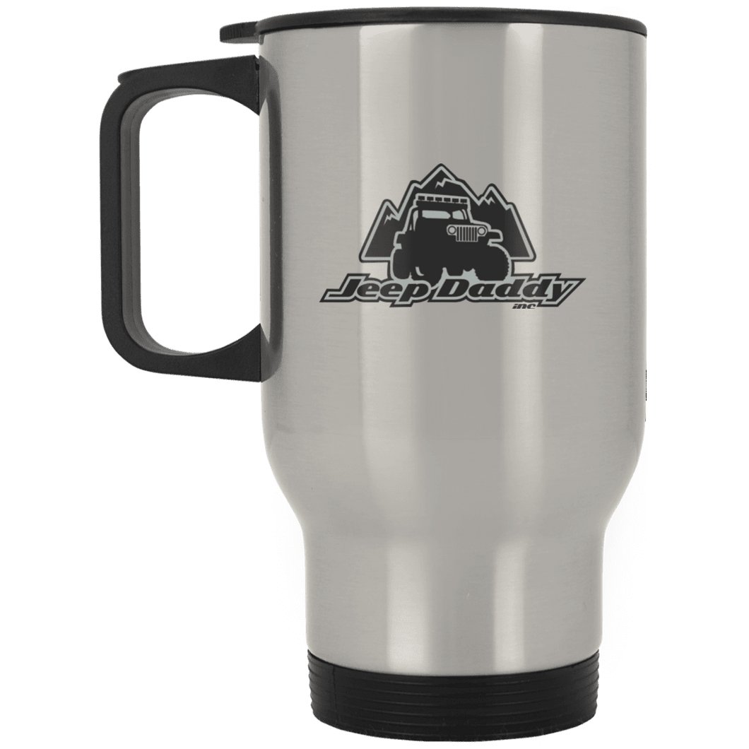 JeepDaddy Silver Stainless Travel Mug