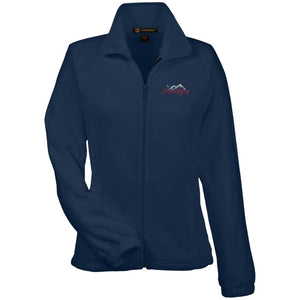 JeepnGypsy silver & red embroidered M990W Harriton Women's Fleece Jacket