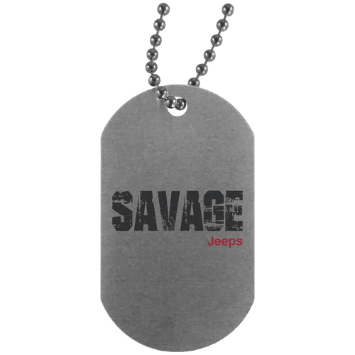 Savage Jeeps UN4004 Silver Dog Tag