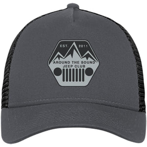 ASJC silver & black embroidered logo NE205 New Era® Snapback Trucker Cap