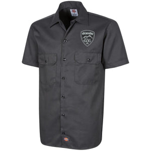 Heights 4x4 embroidered logo 1574 Dickies Men's Short Sleeve Workshirt