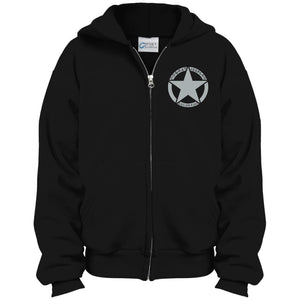 Colorado Combat Jeepers embroidered logo PC90YZH Port & Co. Youth Full Zip Hoodie