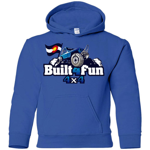 Built4Fun blue G185B Gildan Youth Pullover Hoodie