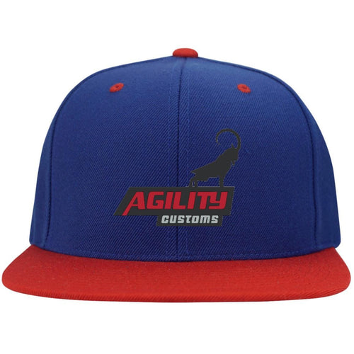 Agility Customs embroidered STC19 Sport-Tek Flat Bill High-Profile Snapback Hat