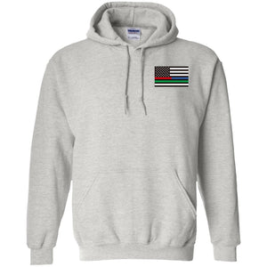 Unity Flag front & Jeeps Against Veteran Suicide back G185 Gildan Pullover Hoodie 8 oz.