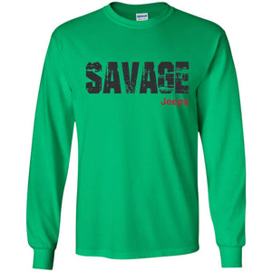 Savage Jeeps G240 Gildan LS Ultra Cotton T-Shirt