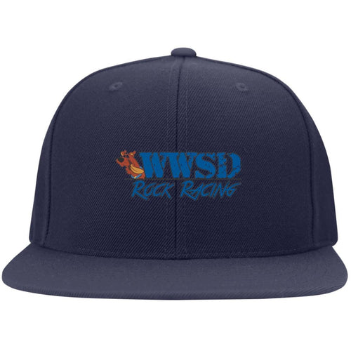 WWSD embroidered logo 6297F Fullback Flat Bill Twill Flexfit Cap