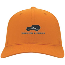 Black Jeep Battalion embroidered C813 Port Authority Flex Fit Twill Fullback Baseball Cap