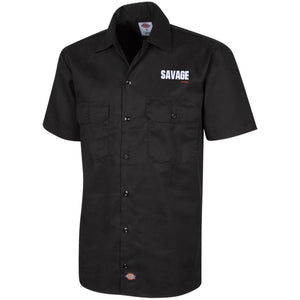 Savage Jeeps embroidered 1574 Dickies Men's Short Sleeve Workshirt