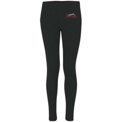 JeepnGypsy silver & red embroidered S08 Boxercraft Women's Leggings