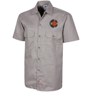 Black 17 embroidered 1574 Dickies Men's Short Sleeve Workshirt