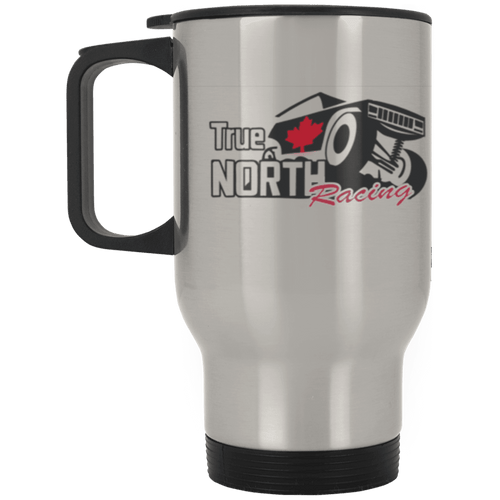 True North Racing dye sublimation XP8400S Silver Stainless Travel Mug