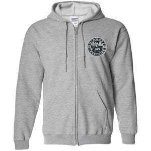 MWJT silver & black embroidered logo G186 Gildan Zip Up Hooded Sweatshirt