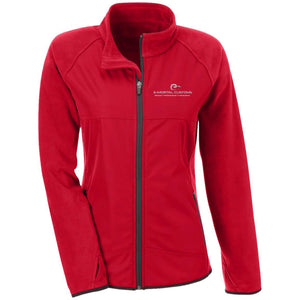 E-Mortal silver embroidered logo TT92W Team 365 Ladies' Microfleece with Front Polyester Overlay