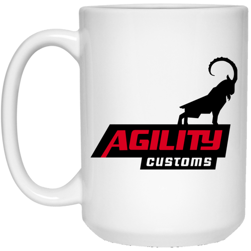 Agility Customs dye sub 21504 15 oz. White Mug