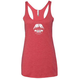 ASJC 2-sided print with Freedom flag on back NL6733 Next Level Ladies' Triblend Racerback Tank