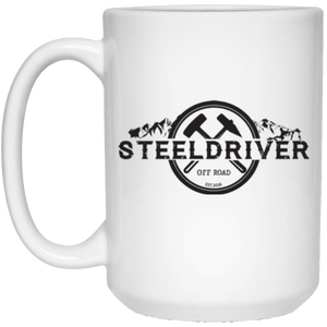 SteelDriver 21504 15 oz. White Mug