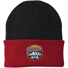 John's 4x4 embroidered CP90 Port Authority Knit Cap