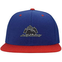 JeepDaddy Flat Bill High-Profile Snapback Hat (embroidered logo)