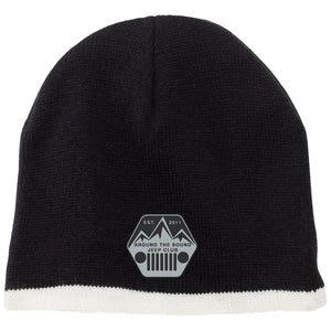 ASJC silver & black embroidered logo CP91 100% Acrylic Beanie