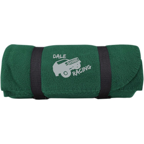 Dale Racing silver embroidered logo BP10 Port & Co. Fleece Blanket