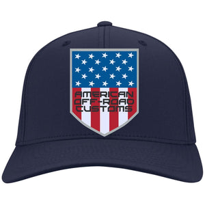 American Off-Road embroidered logo C813 Port Authority Flex Fit Fullback Twill Baseball Cap