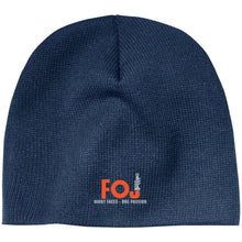 FOJ silver embroidered CP91 100% Acrylic Beanie