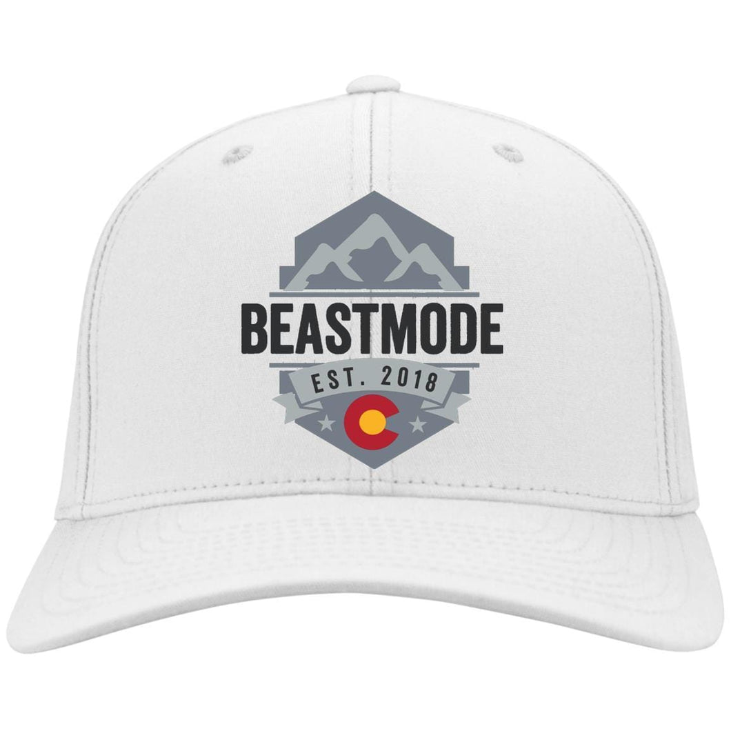Beastmode embroidered logo C813 Port Authority Flex Fit Twill Baseball Cap
